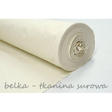 Tkanina surowa 145g/m2, belka 45m - surówka bawełniana