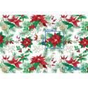 Bawełna gwiazda betlejemska materiał świąteczny