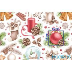 Bawełna dekoracje ozdoby materiał świąteczny