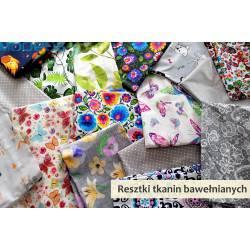 Kawałki tkanin - różne wzory - resztki poprodukcyjne - pakiet 5m