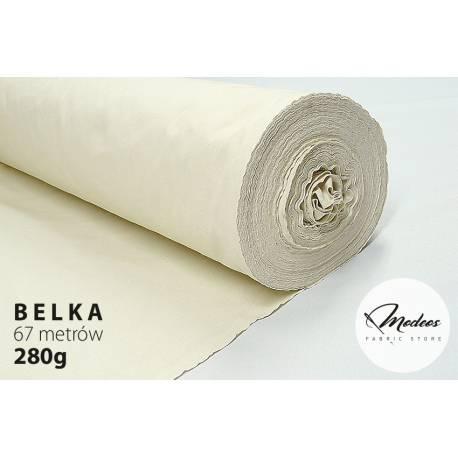 Tkanina surowa gruba 280g - belka 62m surówka bawełniana