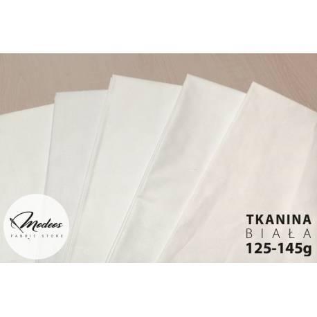 Bawełna biała 145gr gęsto tkana