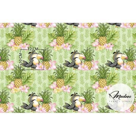 Tkanina tukany ananasy - materiał bawełna