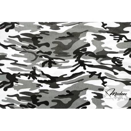 Tkanina moro szare białe czarne - materiał bawełna