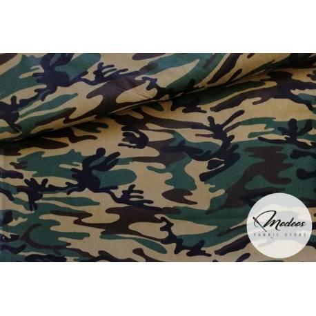 Tkanina moro zielone czarne brązowe - materiał bawełna