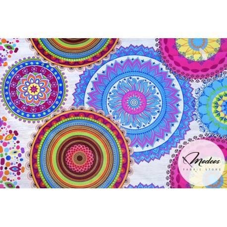 Tkanina kalejdoskop - materiał bawełna