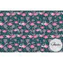 Materiał flamingi różowe - tkanina bawełniana