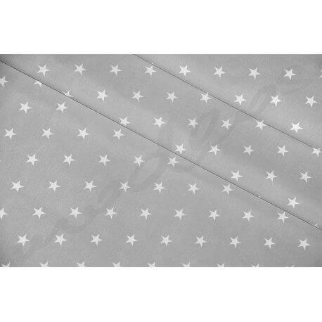 Gwiazdki na szarym tle - tkanina bawełniana