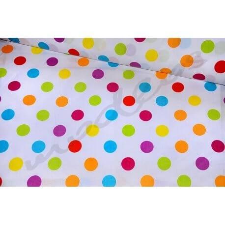 Kolorowe Grochy Dropsy na białym