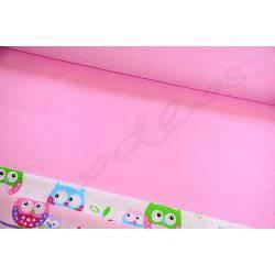 Gładka różowa jednolita tkanina bawełniana