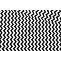Czarny zygzak na białym tle, materiał chevron - tkanina bawełniana