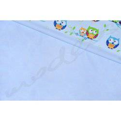 Niebieska, gładka, jednokolorowa, jednobarwna - tkanina bawełniana