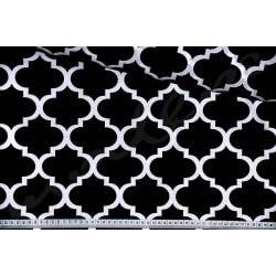 Maroko czarne, koniczyna marokańska - tkanina bawełniana