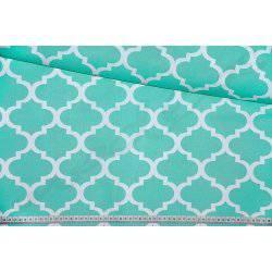 Bawełna wzór marokański, koniczyna - maroko mietowe