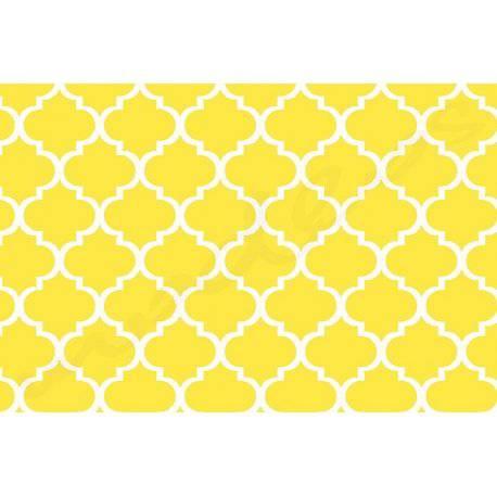 Maroko żółte Tkanina bawełniana - koniczyna marokańska