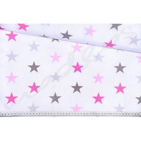 Gwiazdki Stars Różowe Tkanina bawełna sklep lublin