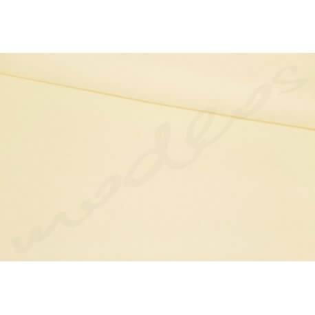 Kremowa gładka jednobarwna Tkanina bawełna