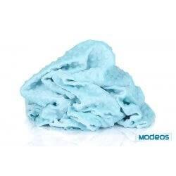 Polar minky 380g/m2, błękitny, niebieski w kropki