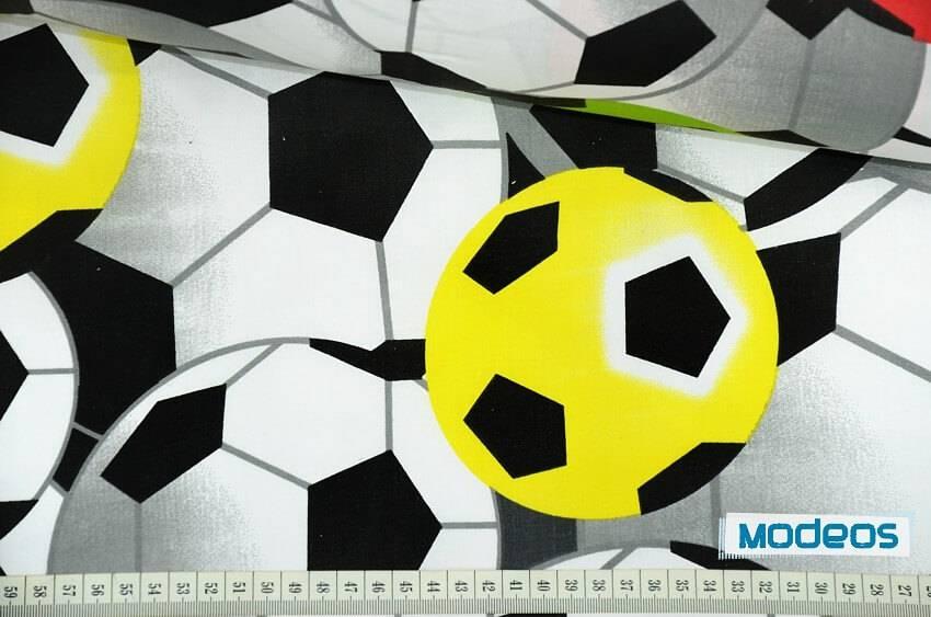 97c26f351 Kolorowe piłki, piłka nożna - tkanina bawełniana