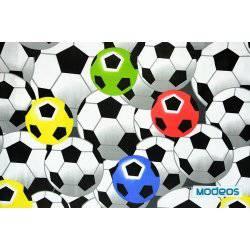 Kolorowe piłki, piłka nożna - tkanina bawełniana