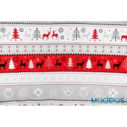 Świąteczny czerwony sweterek - tkanina bawełniana