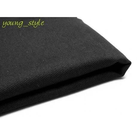 Tkanina drelich czarna 225gr bawełna 100%