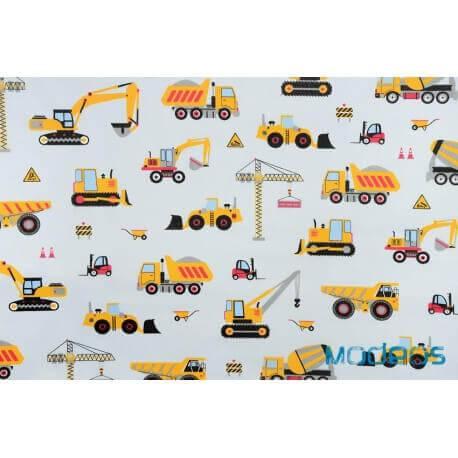 Pojazdy budowlane maszyny koparki - tkanina bawełniana